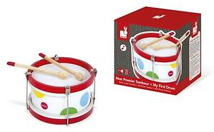 NEW-Janod-My-First-Drum-Wooden-Toy-Drum-QUALITY