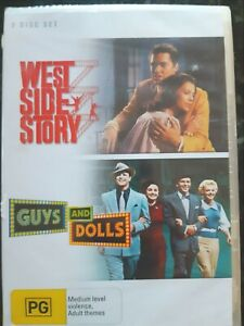West-Side-Story-Guys-And-Dolls-2-DVD-Set-Region-4-BRAND-NEW-amp-SEALED