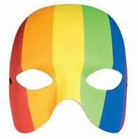 Rainbow Venetian Half Mask