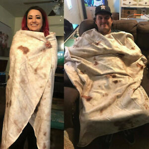 Funny-Burrito-Blanket-Throw-Tortilla-Texture-Soft-Fleece-Super-Bed-Sofa-Blanket