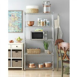 Details about Storage Rack Organizer Kitchen Shelving Steel Wire Shelves