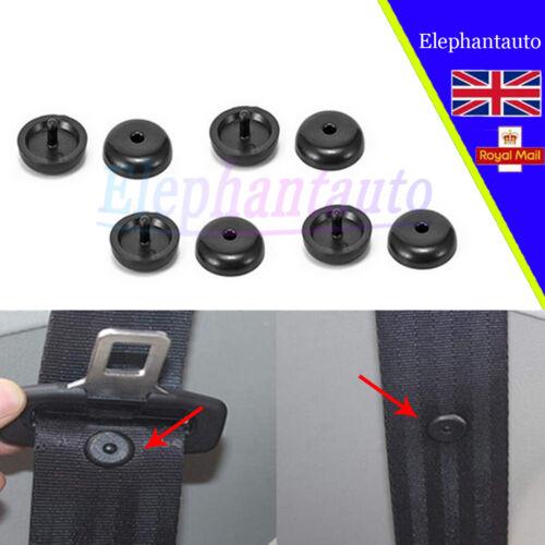 4X black Seat Belt Clip Buckle Holder Clip Retainer Stopper Rest Pin Universal