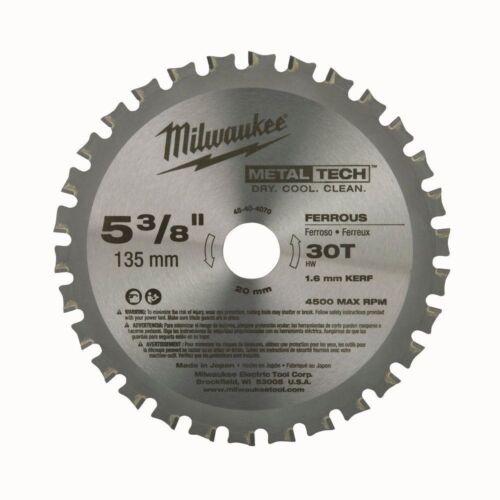 Milwaukee 5-3//8 inch 30 Teeth Metal Cutting Circular Saw Carbide Blade Cutter