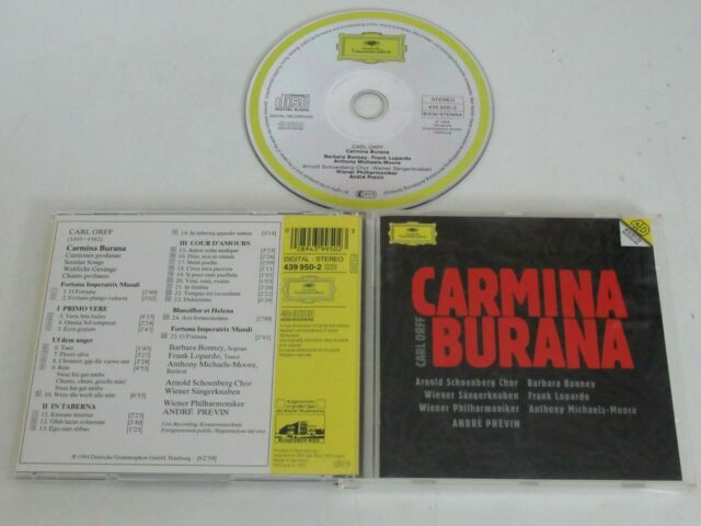 Carl Orff/ Carmina Burana / Orchestre Philharmonique de Vienne / Previn ( Dg 439