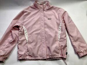 Vintage 90s Reebok Womens Size Small Track Jacket Windbreaker White Pink