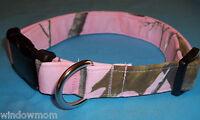 Realtree Pink Ap Camo Terri's Dog Collar Custom Made Adjustable Hunting Fabric