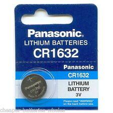 1 PANASONIC CR1632 ECR1632 CR 1632 3v Lithium Battery NEW Exp 2027