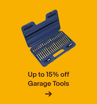 Up to 15% off Garage Tools