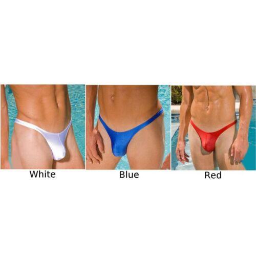 Mens Underwear Low Rise Solid Swimwear Briefs Triangle Trunks Thin Underpants