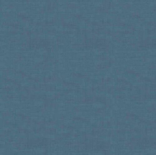 100/% Cotton Denim Blue Linen Texture Look Multiple Sizes Makower Fabric
