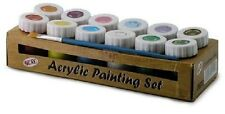 Acrylic Painting Set - Contains 12x18ml bottles of coloured paints QUAY Products