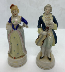 Vintage Made In Occupied Japan Victorian Handpainted Figurines Man And Woman Ebay
