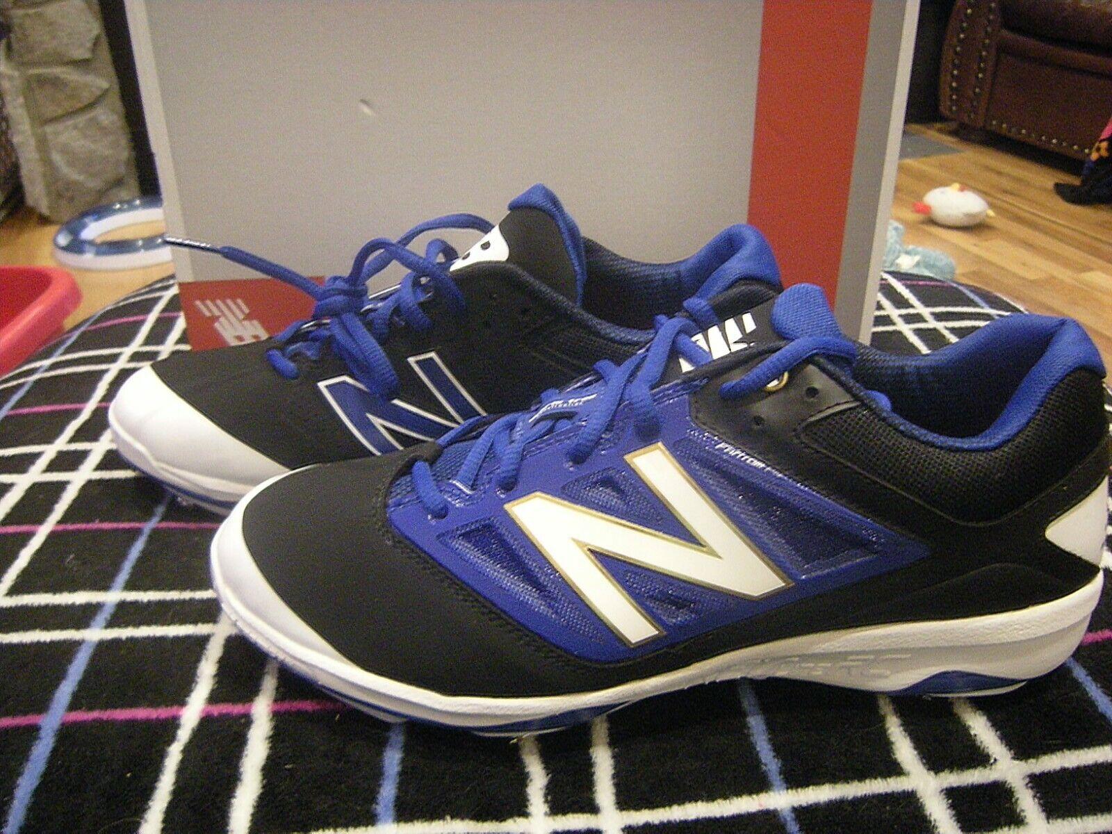 Brand New Mens blu & bianca New Balance L4040BB3 Baseball Cleats, 15
