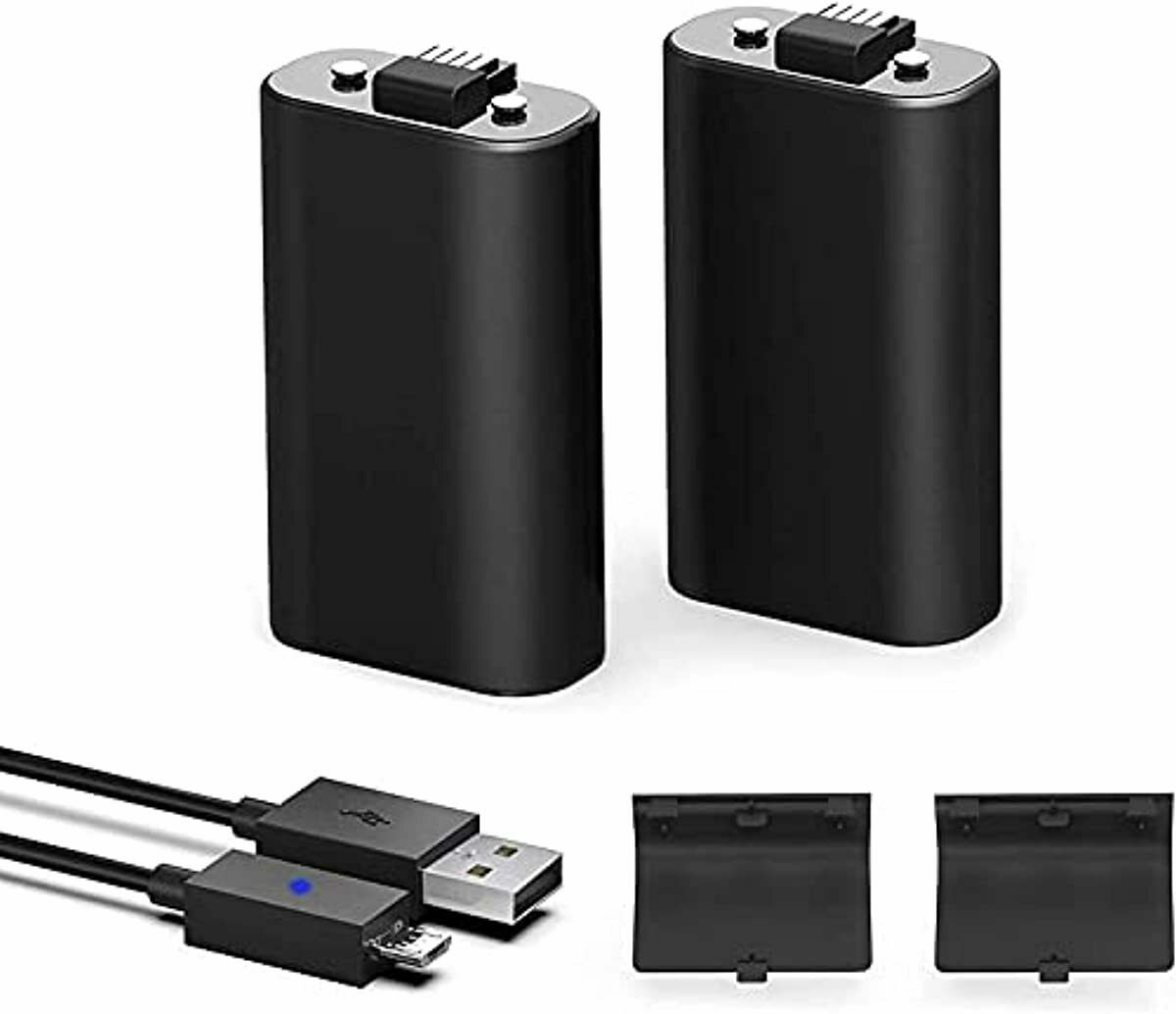 Battery Pack for Xbox One Controller, 2 Pack Rechargeable Batteries with 5FT USB