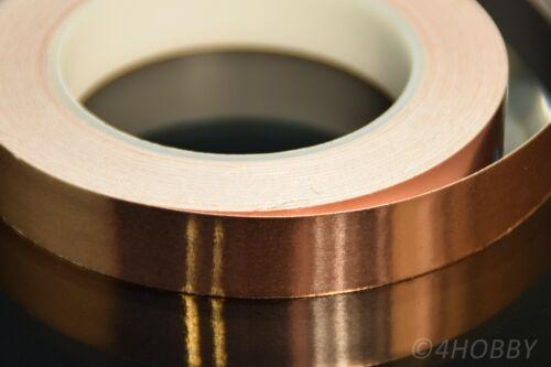Modellbau Kupferband 30m 20mm Breit selbstklebend Band aus Kupfer für Gitarren