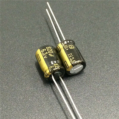 10pcs 1500uF 6.3V Panasonic FJ Low ESR 6.3V1500uF Motherboard Capacitor 8x20mm