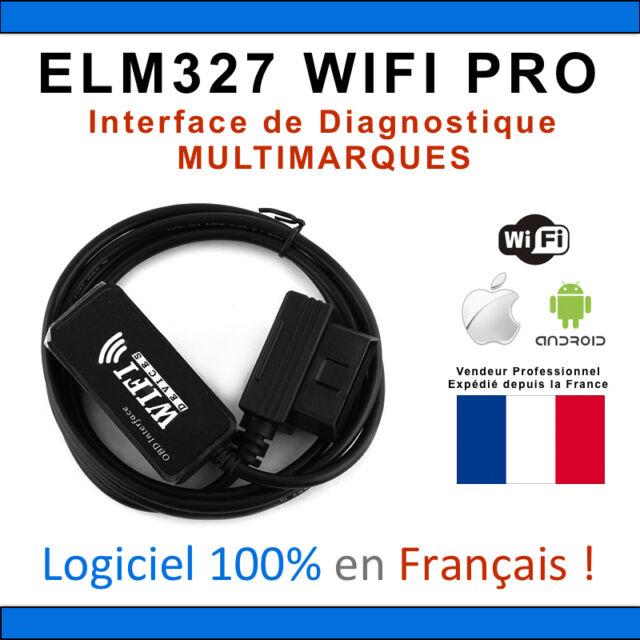 Valise Diagnostique Pro Multimarque En Français Obd Obd2 Diagnostic ELM WIFI PRO
