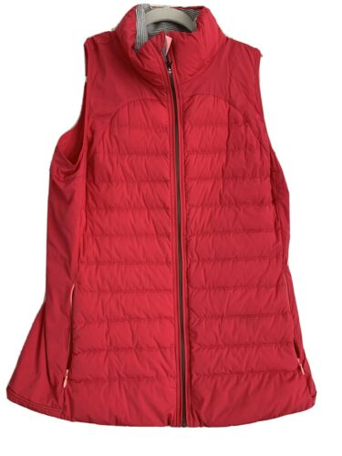 Lululemon Pink Quilted Down Vest Size 12
