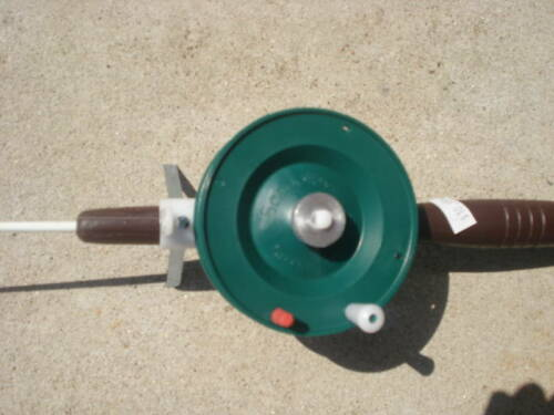 """21/"""" Schooley Ice Rod,Reel w//Viscious Ice Line,Jig,Bobber Made in Michigan #1321"""