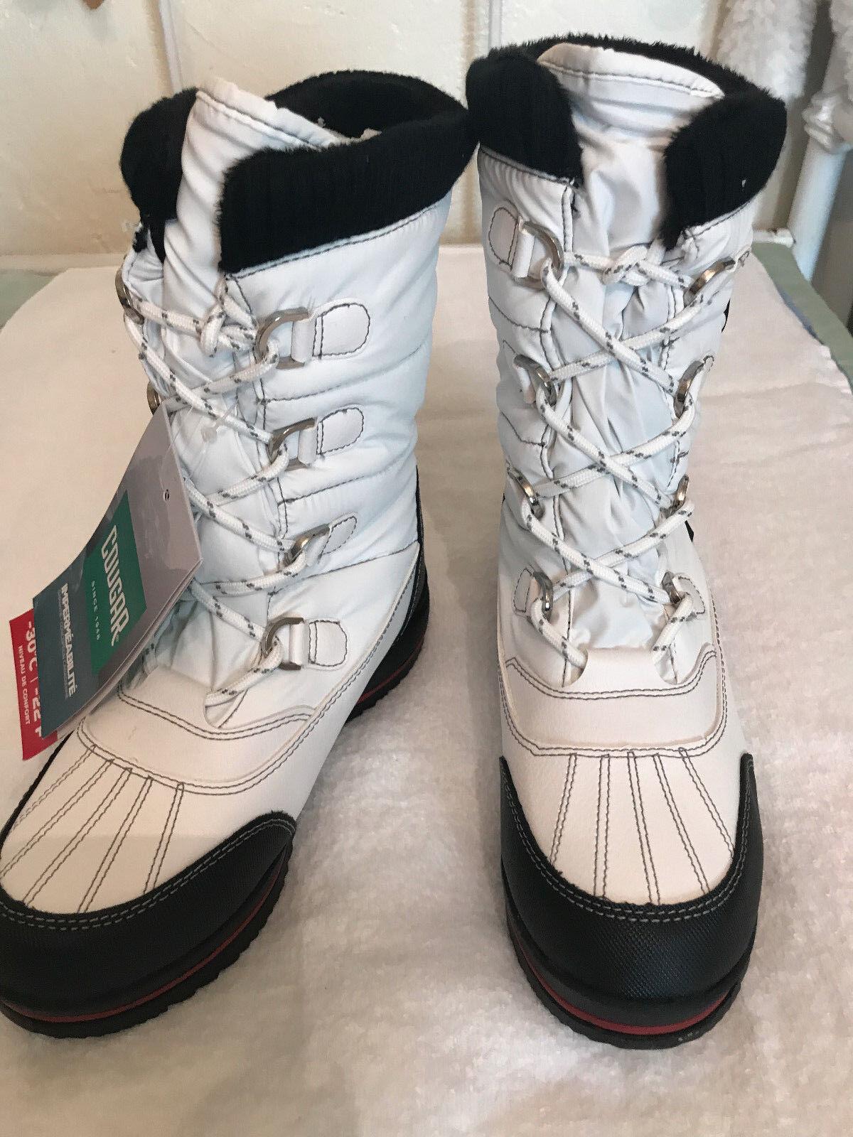 Cougar para mujer botas blancoo Bonair Impermeable, Tamaño 6M, Nuevo Sin Caja