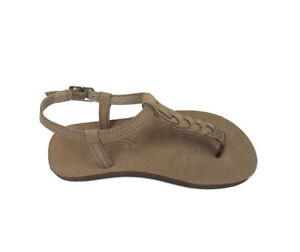 4bb9a92f27b3 NEW RAINBOW T-STREET SANDAL FOR KIDS   YOUTH DARK BROWN SANDALS WITH ...