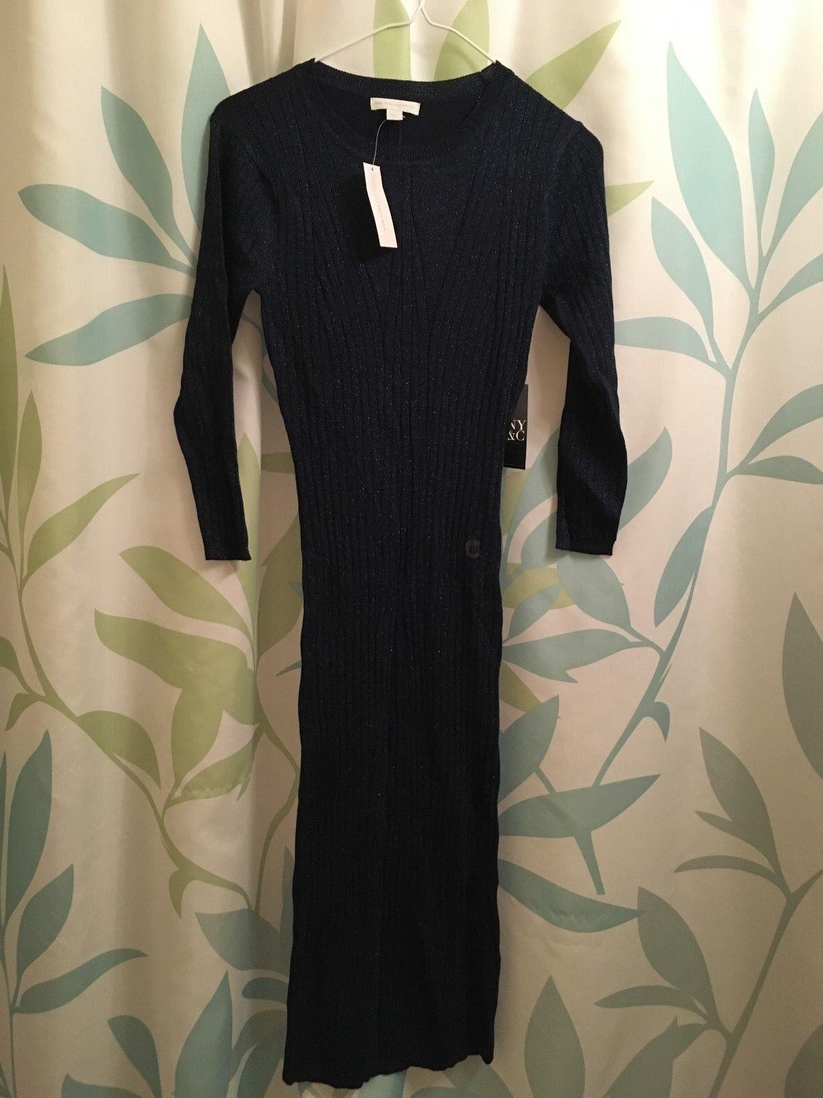 Metalic Ribbed- Knit Sweater Dress