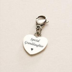 6932534a6 Image is loading Granddaughter-Charm-Gift-for-Special-Granddaughter-Heart- Charm-