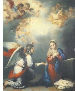Catholic-Print-Picture-ANNUNCIATION-w-Angel-by-MURILLO-20x25cm-ready-to-frame