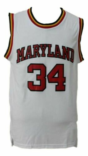 LEN BIAS #34 COLLEGE BASKETBALL JERSEY WHITE ANY SIZE