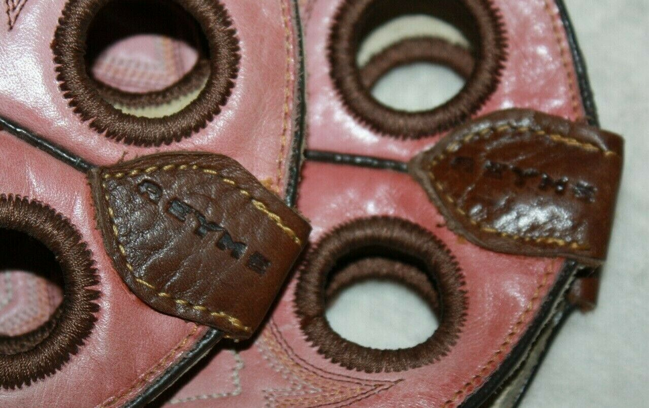 "REYME 11"" Ladies Brown & Pink Cowboy Boots Size 9 - image 8"