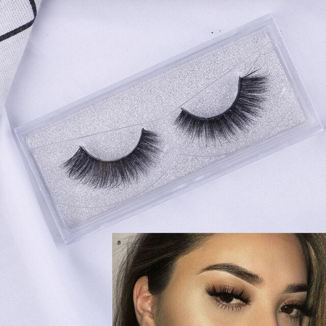 Top 3D100%#Mink Soft Long Natural Thick Makeup Eye Lashes False Eyelashes BlackS