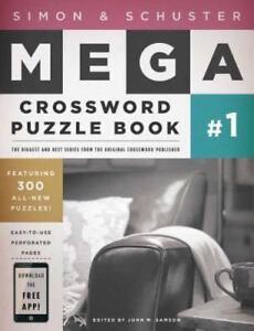 Simon And Schuster Mega Crossword Puzzle Book By John M Samson 2008 Paperback