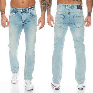 Rock Creek Herren Jeans Regular Fit Hellblau Herrenjeans Gerades Bein RC-2109