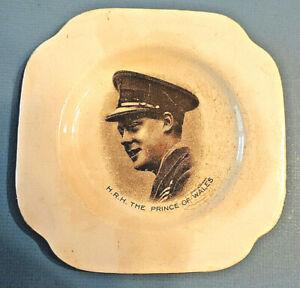 Vintage-HRH-The-Prince-of-Wales-Edward-VIII-TRINKET-DISH-SAUCER-or-PLATE