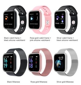 T80 Smart Watch Heart Rate  Monitor Fitness Tracker Smart Bracelet with 2 strap