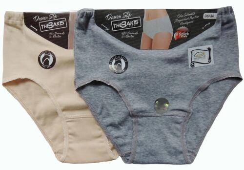 3-12 Damen Unterhose Slips Baumwolle 36-58 schwarz grau weiss beige 2091 S-3XL