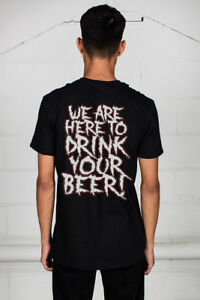 Official-Alestorm-We-Are-Here-To-Drink-Tuo-Birra-T-Shirt-Unisex-Licenza-Merch
