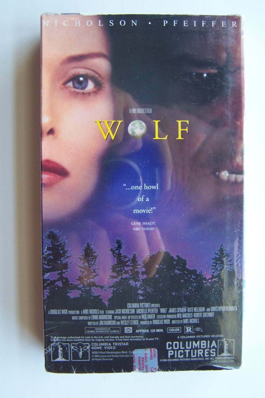 Wolf VHS Video Tape