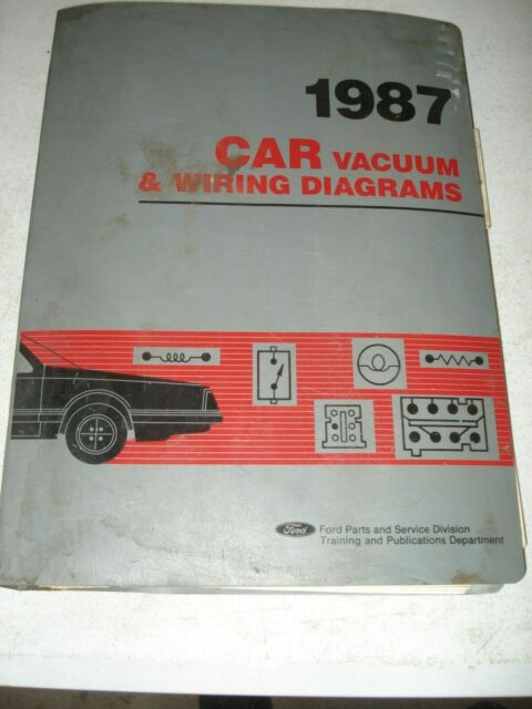 1987 Ford Car Wiring Diagrams Service Manual Mustang  U0026 More Shop Repair Lincoln