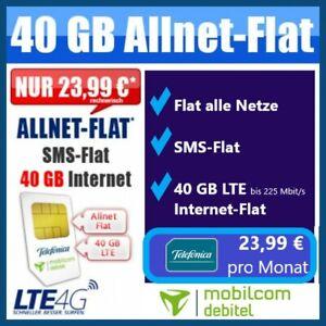 40 GB Internet Flat Handy Mobilfunkvertrag Sim Karte ohne ...