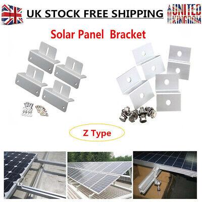 Z shape with hardware 4pcs kit Solar Panel Brackets Aluminium,2 hole
