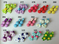from 99p per pair, baby/girls alligator hair clips slides bows uk stock