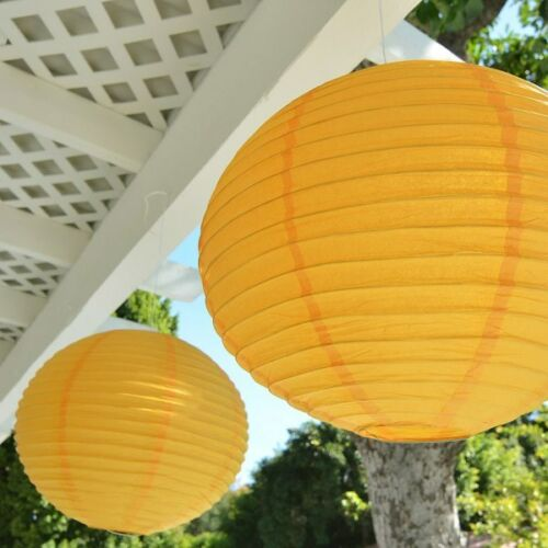 """Package of 2 Round Asian Style Chinese Round Lanterns 16/"""" Hanging Multi Color XL"""