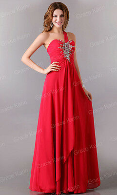 Cheap~One Shoulder Formal Evening Prom Ball Gowns Cocktail Bridesmaid Long Dress
