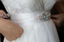 Victorian Wedding Accessories Bridal Dress Beaded Jeweled Crystal Belt Sash