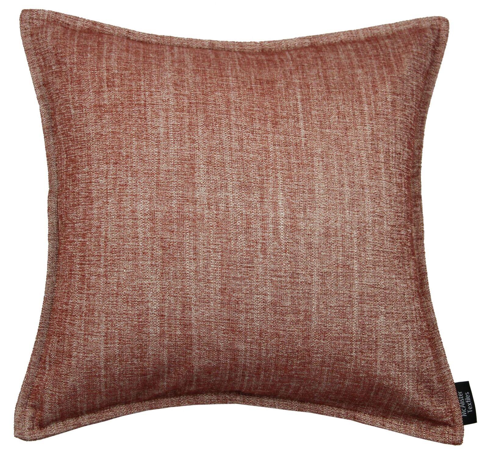 McAlister Textiles Rhumba Stonewashed Semi-Semplice Strutturata Arancione Bruciato Stonewashed Rhumba Cuscino c39079