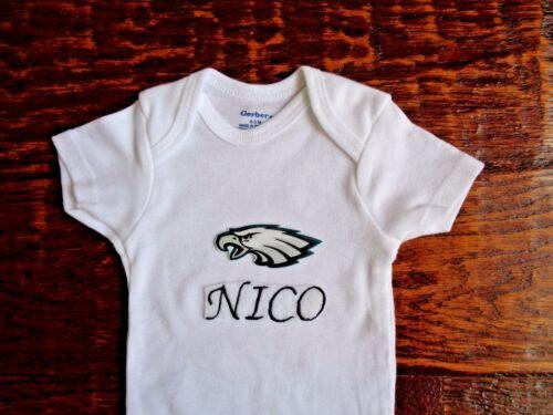 Philadelphia Eagles Personalized Baby Bodysuit