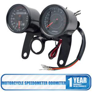 Motorcycle-Motorbike-LED-Dual-Odometer-Speedometer-Tachometer-Speedo-Meter-Gauge