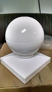 5x5 Pvc Fence Post Ball Cap Top Vinyl White 5 X 5 Made In
