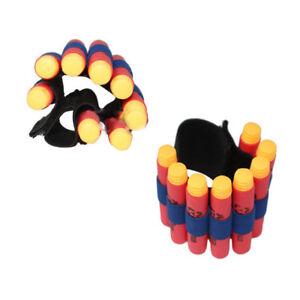 2Pcs-EVA-Bullet-Dart-Holder-Elastic-For-Nerf-N-strike-Ammo-Wrist-Strap-Band-D